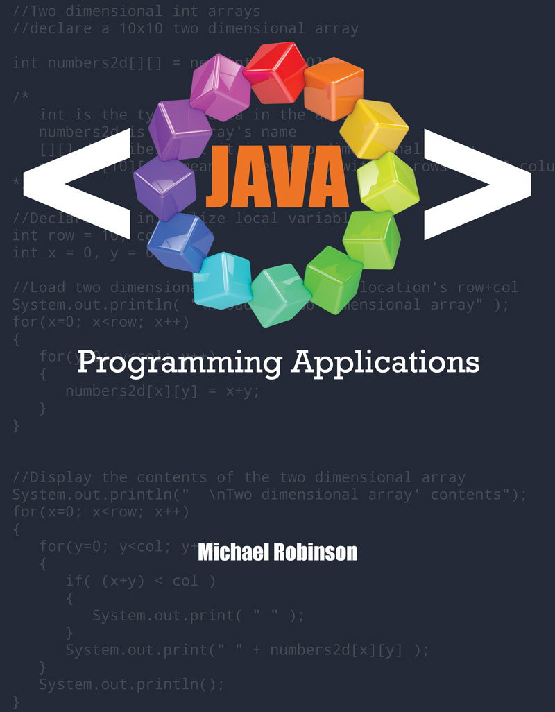 java programming applications higher education