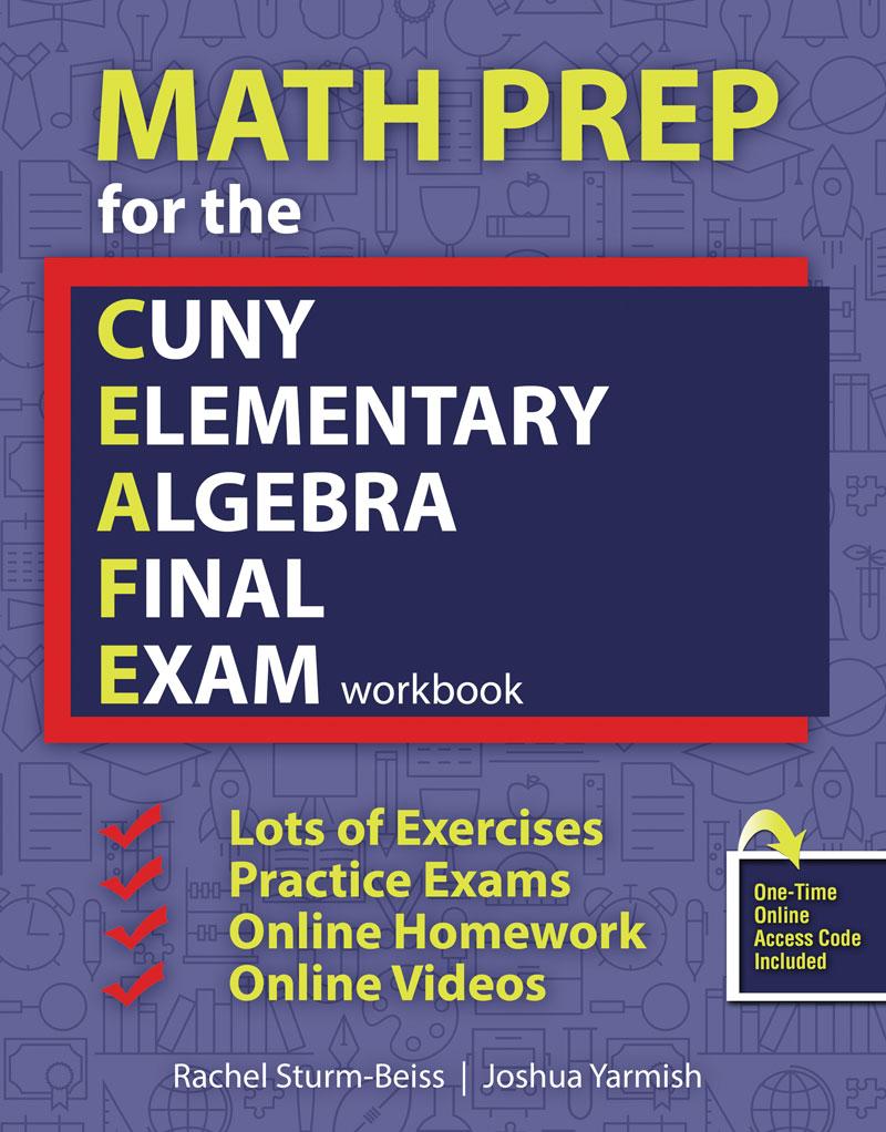 Worksheet Elementary Math Online math prep for the cuny elementary algebra final exam workbook higher education